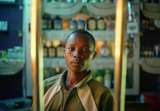 Young bartender in Nairobi, kenya