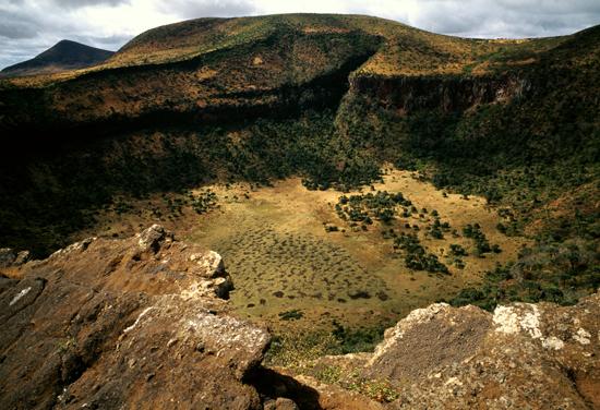 Gof in Marsabit in northern Kenya