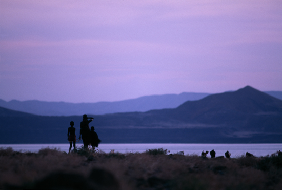 Goat herders at Lake Turkana
