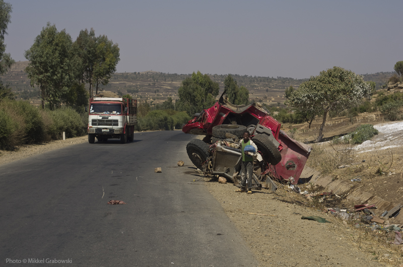 Accident on a road in Ethiopia