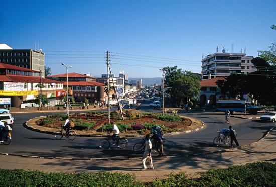 Oginga Odinga Street in Kisumu