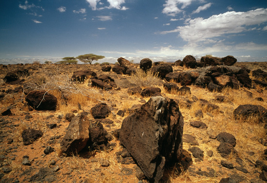 Lava rocks, Kenyas Northern Frontier Region
