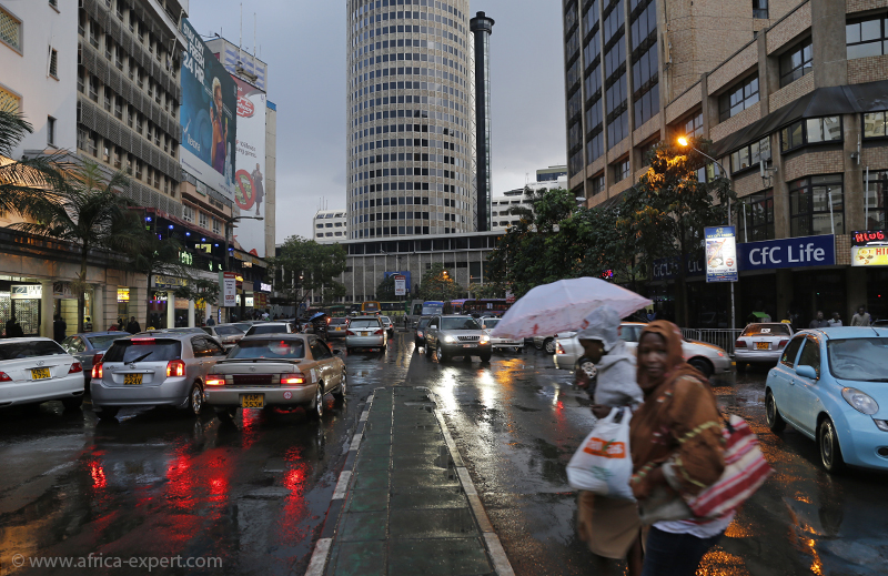 The streets of Nairobi