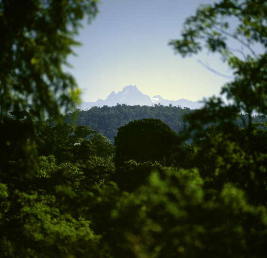 Mount Kenya seen from a distance
