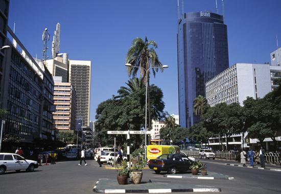 Central Nairobi in kenya
