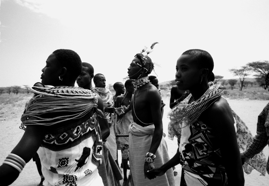Samburu women dancing