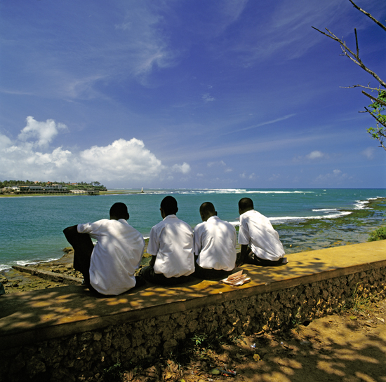 At Fort Jesus in Mombasa there's a great view over the Indian Ocean