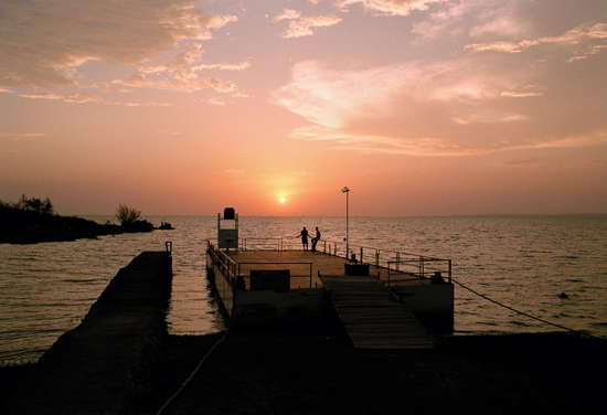 Couple enjoying the sunset at Kiboko Bay