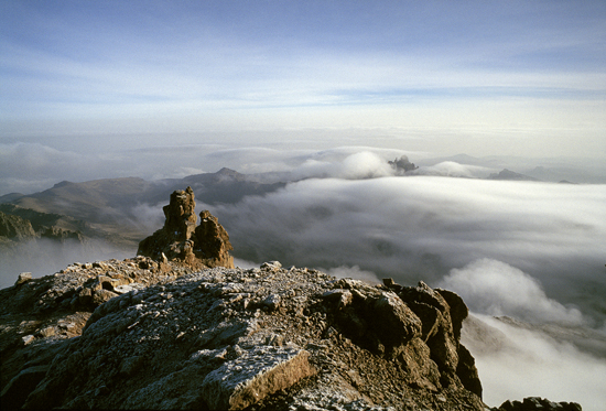 View from Mount Kenya