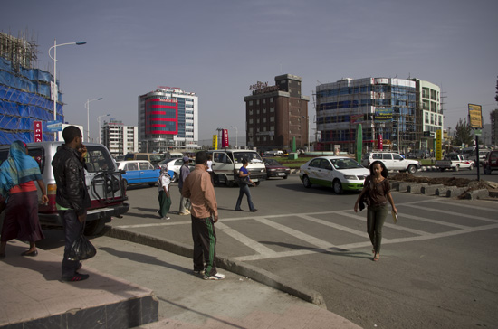 People in the street of Addis Ababa