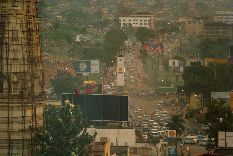 A view over kampala, the capital of Uganda