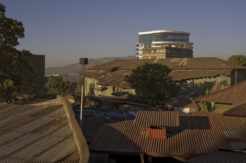 Sunrise over Addis Ababa