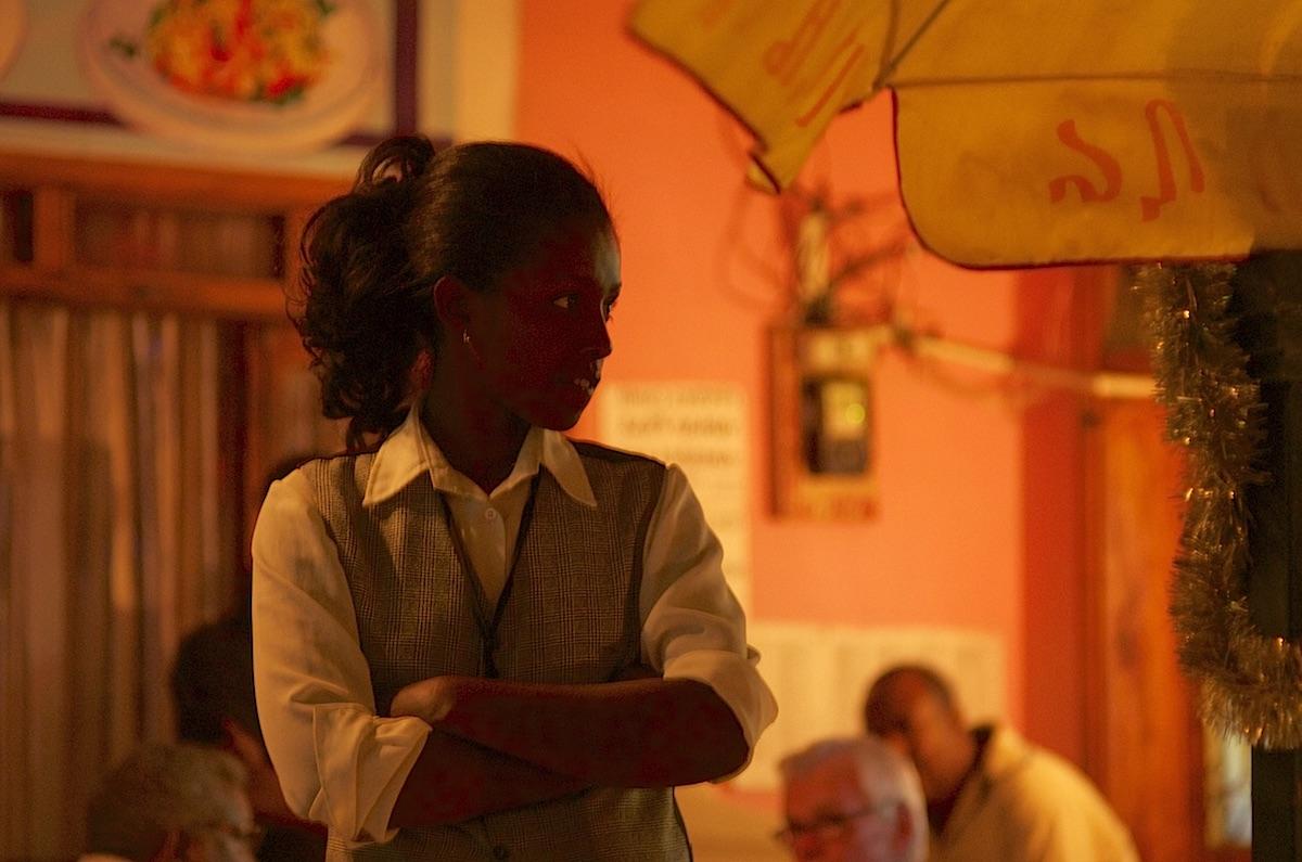 Waitress at a restaurant in Harar