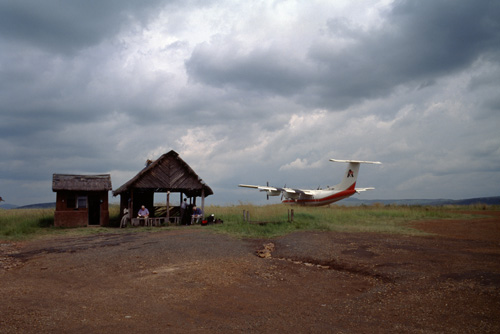 flying in Africa