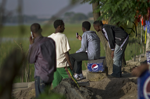 Mobile phones are being widely used in Africa. Photo © Mikkel Alexander Grabowski
