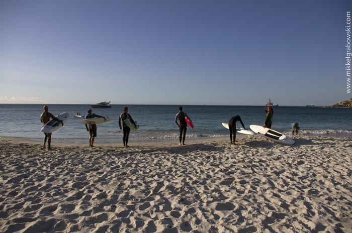 Surfers in Cape Town