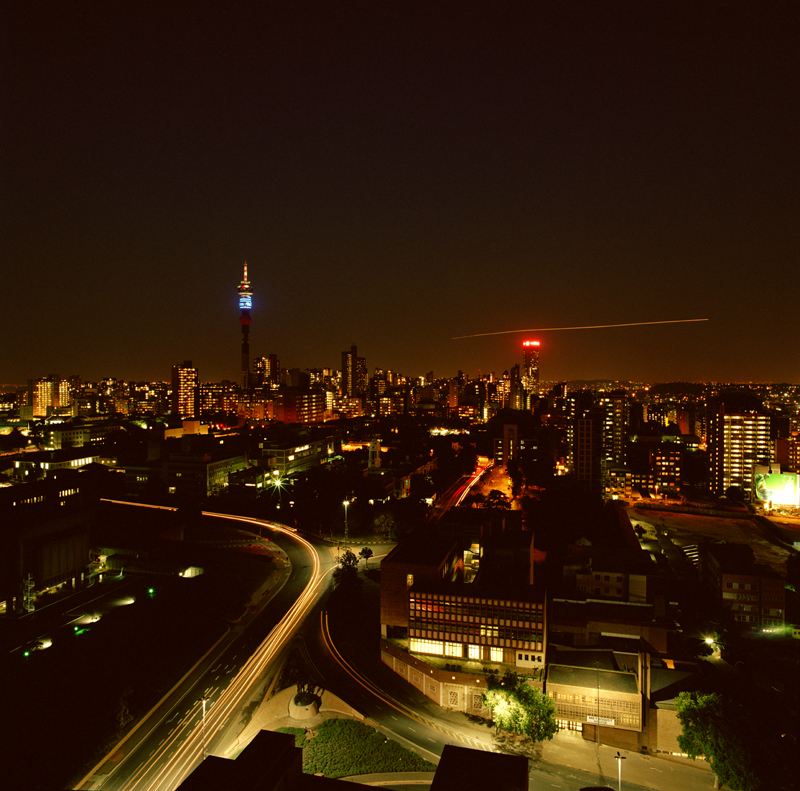 Johannesburg skyline by nighttime - photo © Mikkel Grabowski