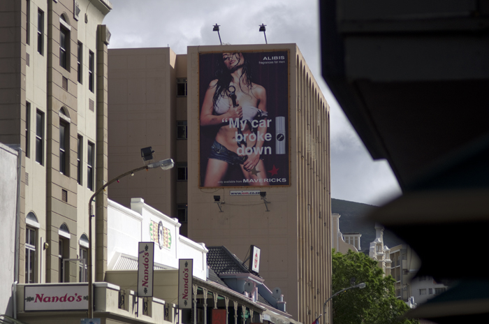 Photographs are well suited for making wall posters like this one in Cape Town - photo © Mikkel Grabowski 2011