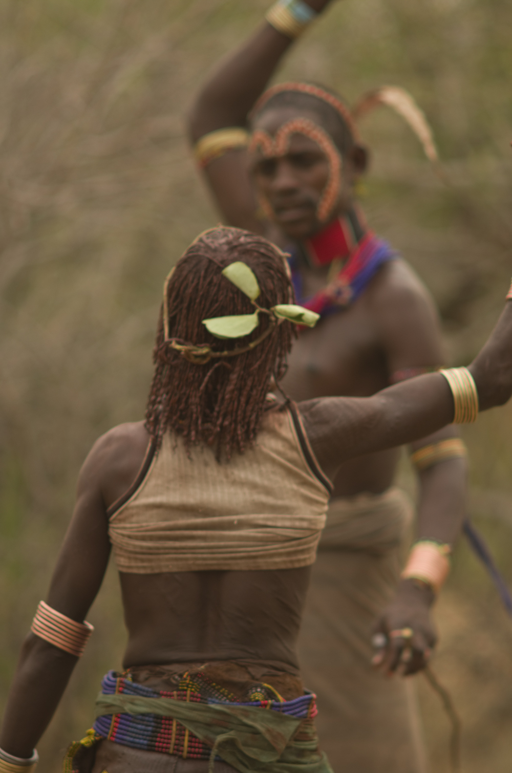 The hamer people in Omo valley have a long tradition for performing certain rituals including whipping of the women and the men jumping over bulls. Photo © Mikkel Grabowski 2012