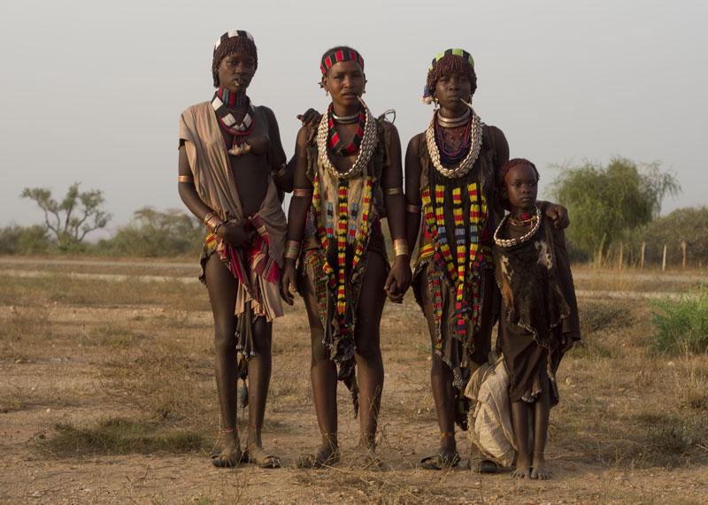 Hamer people in Omo valley
