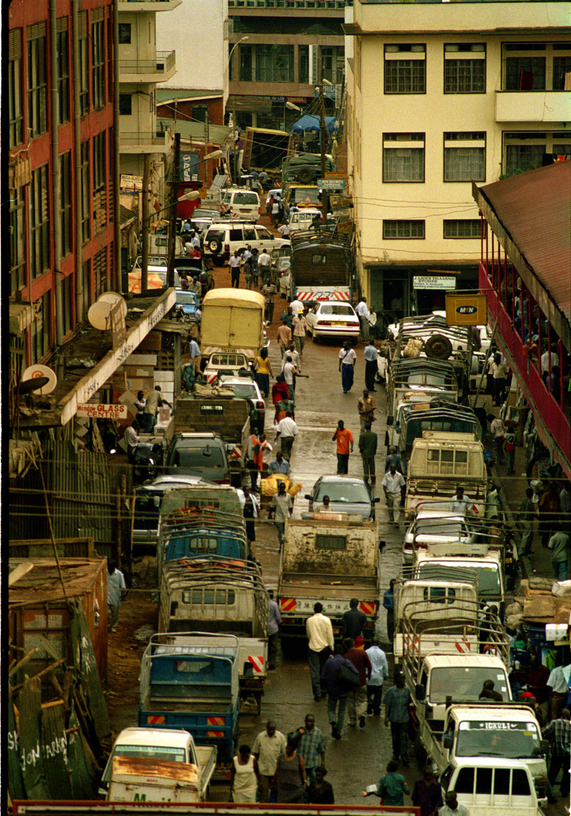 A busy street in the capital of Uganda, kampala