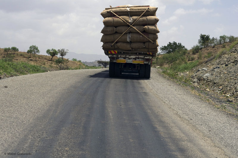 truck with cotton in Omo Valley