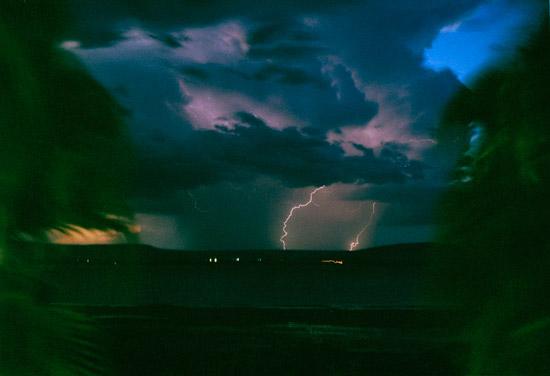 Lightning strikes in Lake Awasa Ethiopia