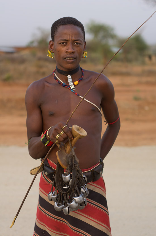 Tribal man in Omo Valley in Southern Ethiopia